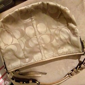 Beige and brown COACH purse